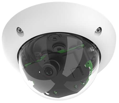 Indoor/Outdoor 6 Megapixel Night Dome IP Camera, 90 degree lens