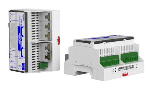 MxSwitch PoE/PoE+ Switch, DIN Rail Mounting