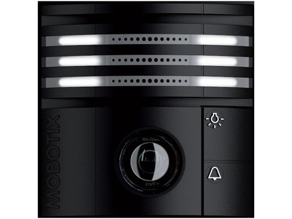 Black Weatherproof IP Video Door Station Camera, 6MP, 180 Degree View