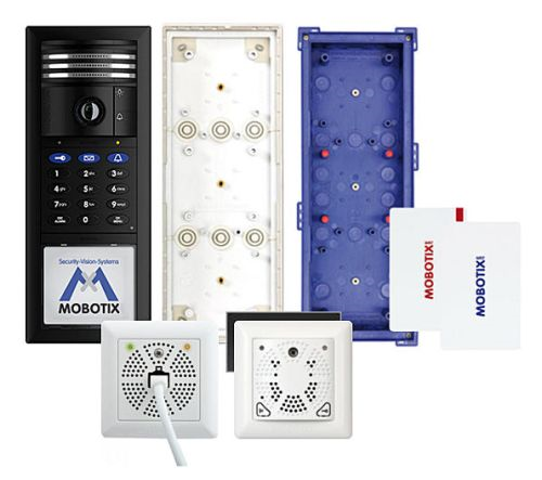 T25 6MP Set 2, Two-Wire, Keypad, DoorMaster, Black