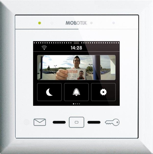 Touchscreen Display for Mobotix Door Station System, White