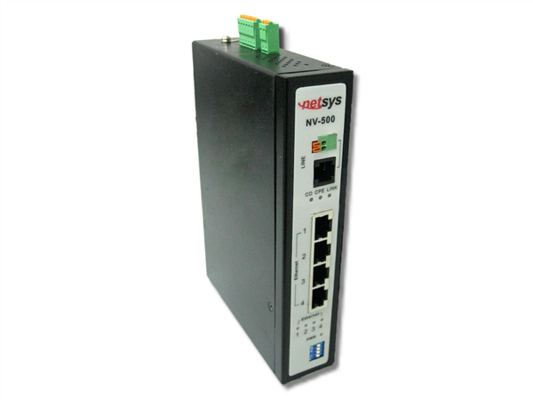 Industrial Grade Ethernet over VDSL Extender with DIP switch for CO/CPE modes, Long Reach Mode (up to 3 km)