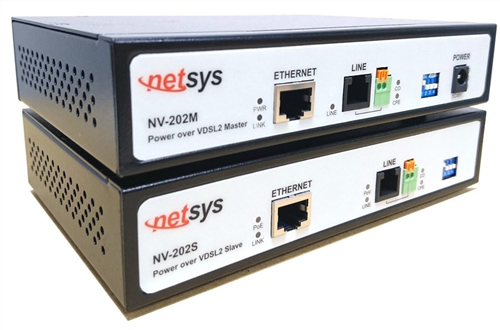 Ethernet Extender Kit, with PoE over single twisted pair