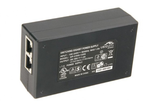 PoE Injector, Gigabit, Passive 50V, 60W (for for AF5, AF5U and AF24)