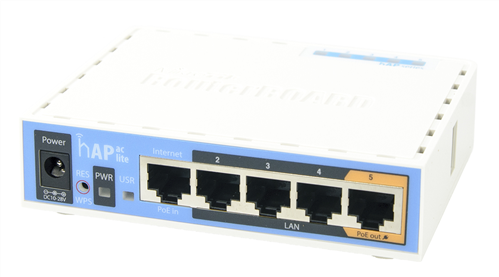 hAP ac Lite, 802.11ac 5 Port Router