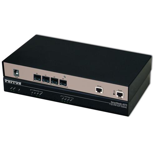 SmartNode 4 T1/E1 PRI VoIP Gateway, 1x GigEthernet, 30 VoIP channels; upgradeable to 60, Failover Relay, External UI Power, IPv6 ready.