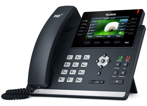 IP Phone, Dual Gig. Ethernet, Colour LCD, PoE (AC Adapter optional)