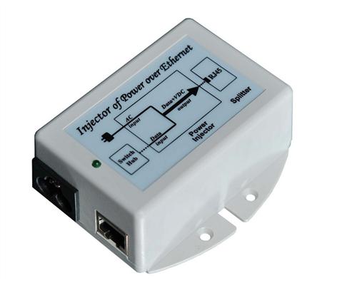 PoE Injector, 100Mbps, 802.3af, 48V, Surge Protected