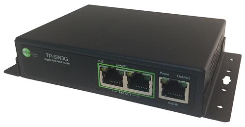 3-Port PoE Extender/Repeater, Gigabit Ethernet, 802.3af/at, 60W