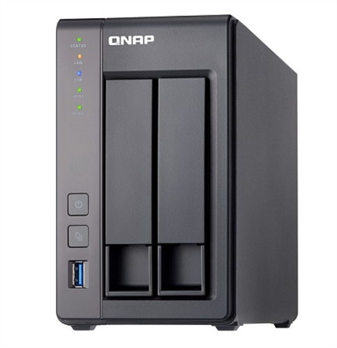 2 Bay SATA 6Gb/s NAS, Quad-Core Intel Celeron 2.0GHz CPU, 2GB DDR3L (Max. 8GB) RAM, 2 Gigabit Ethernet, Tower Chassis