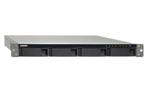 4-Bay SATA 6Gb/s NAS, 1.7GHz Quad Core, 2GB RAM, Rackmount, Dual PSU