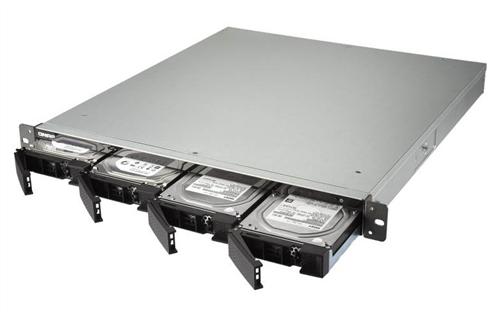 4-Bay NAS, Intel Quad Core 1.5GHz CPU, 4GB RAM, Rackmount, Dual Power