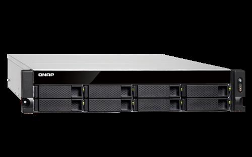 8-Bay NAS, Quad-core 1.7 GHz CPU, 4GB RAM, Rackmount, 2 SFP+, 2 10GbE