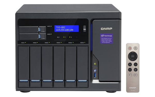8-Bay TurboNAS, SATA 6G, Core i3-6100 3.7 GHz, 8GB RAM