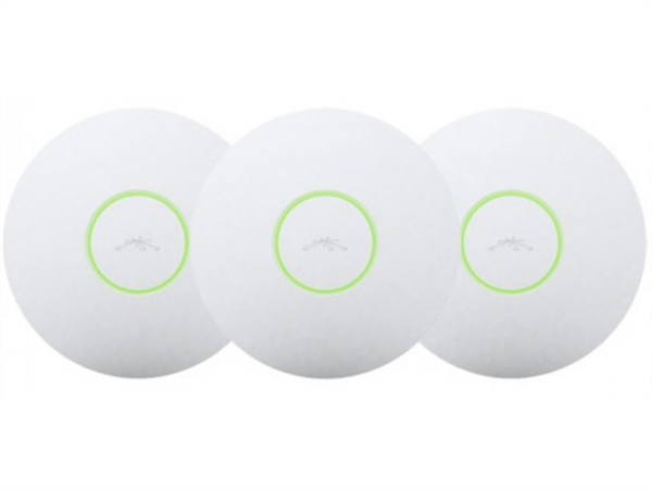 3-pack of Ubiquiti UniFi 802.11b/g/n 200mW AP, PoE included