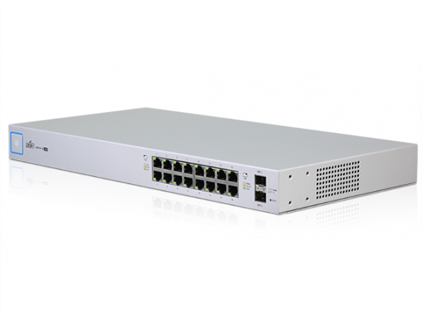 UniFi Switch 16 Gigabit Ethernet Ports, 24V / 802.3af / 802.3at PoE, (150W max), 2 SFP Ports