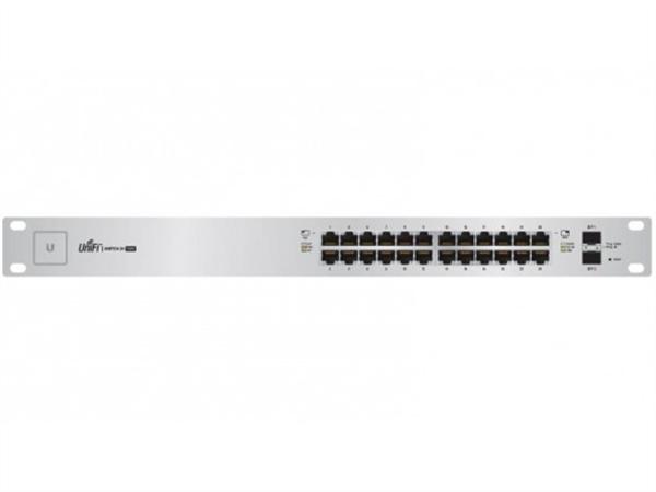 UniFi Switch 24 Gigabit Ethernet Ports, 24V / 802.3af / 802.3at PoE, (250W max), 2 SFP Ports