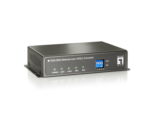Ethernet over VDSL2 Extender, switchable CPE/CO modes