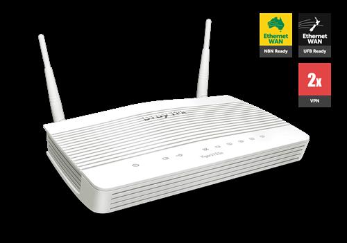 UFB Router/Firewall, QoS, VPN, GigE WAN/LAN, 802.11ac WiFi, 2x FXS/ATA