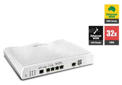 ADSL/UFB Router, Firewall, VPN Router, 4 GigE LAN Ports
