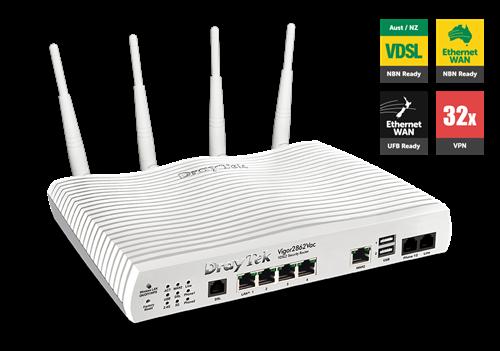 ADSL/VDSL/UFB Router, USB, 4xGigE LAN, VPN, QoS, VLAN, 802.11ac, VoIP Vigor 2862VAC