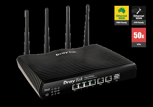 Dual-GigE WAN Router/Firewall, 802.11AC WiFi, IPSec, PPTP, SSL VPN