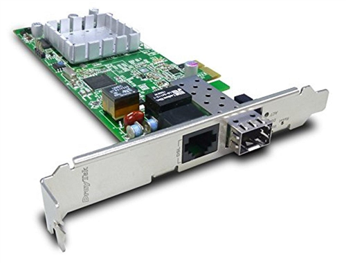 VDSL2/ADSL2+ PCI Express NIC, Security Firewall, SFP as 2nd WAN