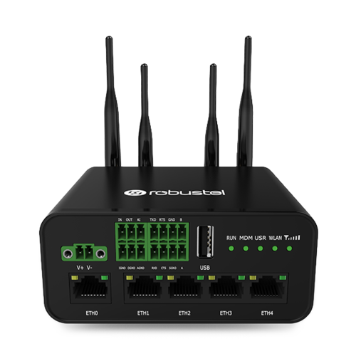 Industrial Dual SIM LTE Router, GPS, WiFi, 5x Ethernet, VPN (R1520-4L)
