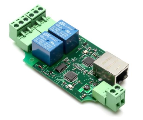 Ethernet TCP/IP LAN Web access controller board, 2 channel, no case