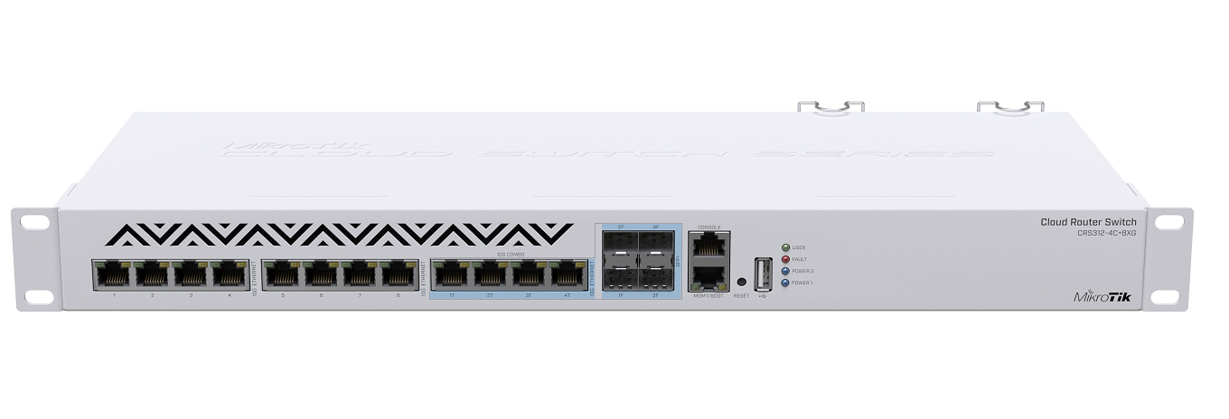 Cloud Router Switch, 8x 10G, 4x Combo 10G Ethernet/SFP+ ports