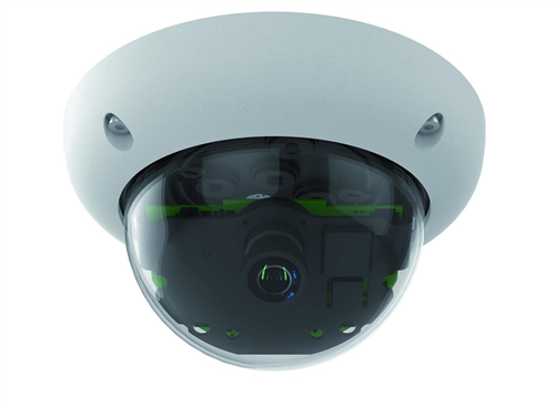 Indoor/Outdoor 6 Megapixel Dome IP Camera, 15 degree lens, Night