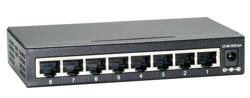 8-Port Gigabit Ethernet Switch, Unmanaged, Desktop Size, Metal Case