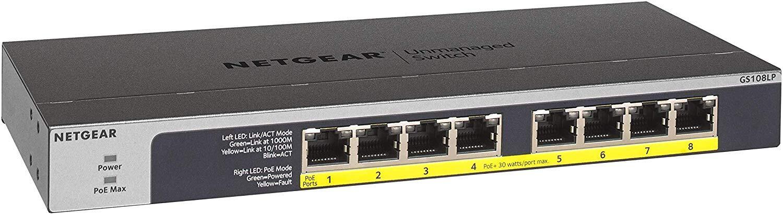 8-Port Gigabit PoE Switch, 802.3at/af, 8 PoE+ Outputs, 60W Total PoE