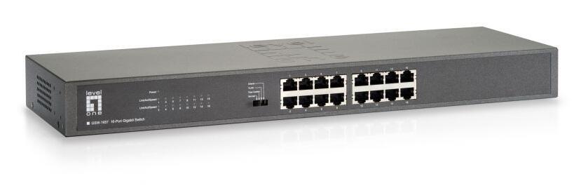 16-port Gigabit Unmanaged Switch, Rackmount