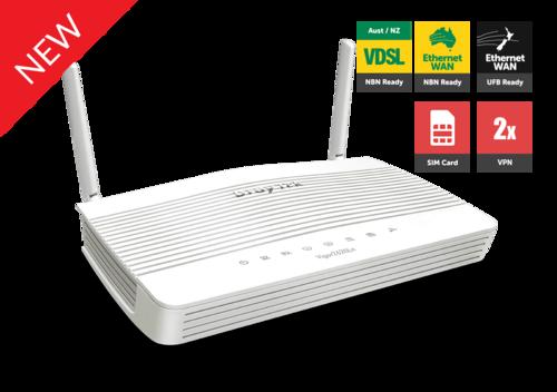 LTE Router, dual SIM card slot, VDSL2/ADSL2+, 2x Gigabit LAN, 802.11n