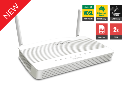 LTE Router, dual SIM card slot, VDSL2/ADSL2+, 2x Gigabit LAN