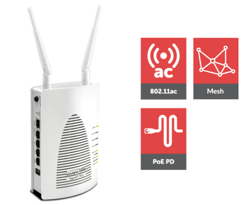 Managed 802.11ac Wave 2 Mesh Wireless Access Point