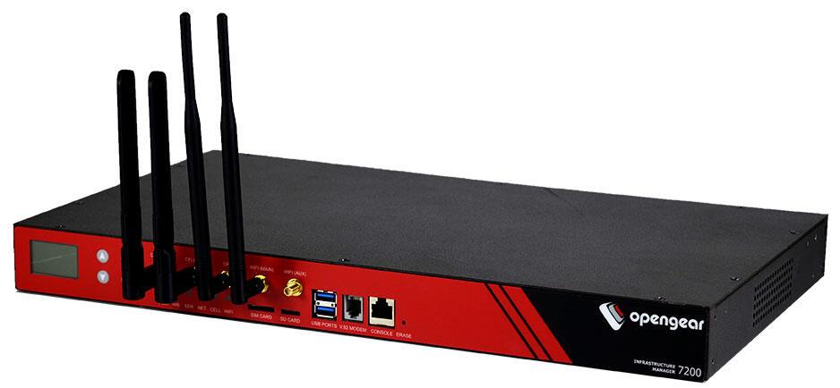 8-Port Serial Infrastructure Manager, Dual DC Power, V.92 modem, 4G