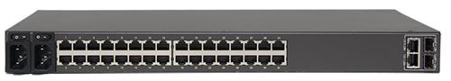 16-Port Serial and 24-Port Ethernet, Dual DC, V.92 modem