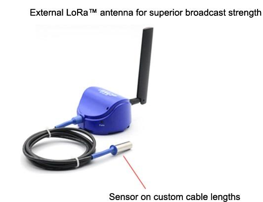 LoRa Wireless Sensor, Dual Temperature and Humidity, with 1.5m cable