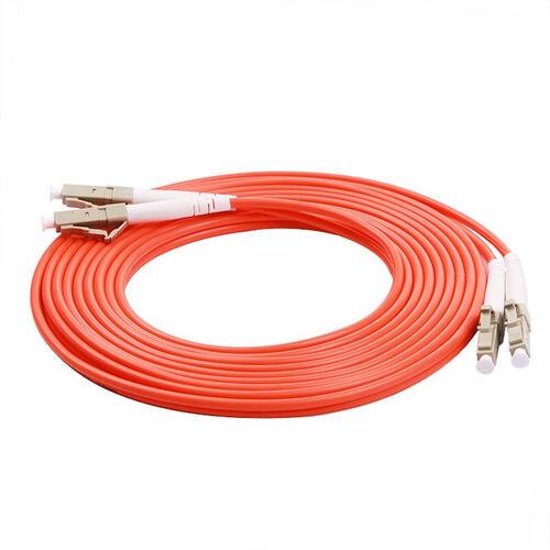 Fibre Optic Duplex Patch Cord 50/125µm Multi-mode OM2, LC-LC, 5m, Orange