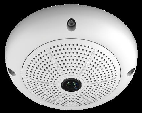 Indoor/Outdoor 6 Megapixel Hemispheric (180 degree) IP Camera, Day