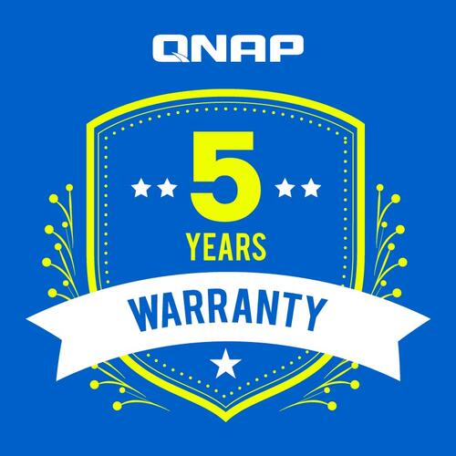 Upgrade standard 2 year QNAP warranty to 5 years - Green