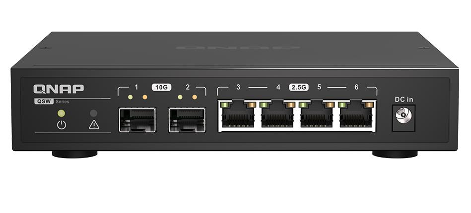 10Gb Ethernet Switch, 2 x 10GbE SFP+, 5 x 1GbE/2.5GbE RJ45 ports