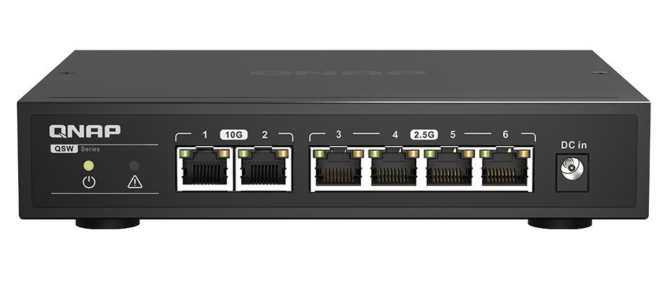 10Gb Ethernet Switch, 2 x 10GbE RJ45, 5 x 1GbE/2.5GbE RJ45 ports