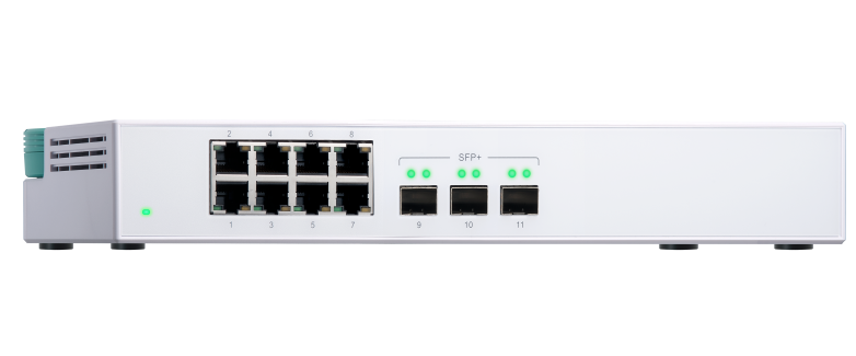 8-port Gigabit Ethernet Switch with 3 ports 10GbE SFP+