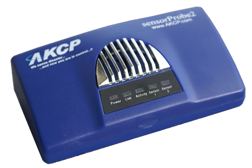 SNMP enabled and Web-Based Environmental Monitoring Device, 2 ports