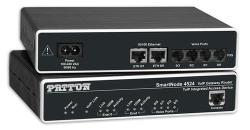 Smartnode Dual FXS VoIP GW-Router; 2x10/100baseT, H.323 and SIP, External PSU