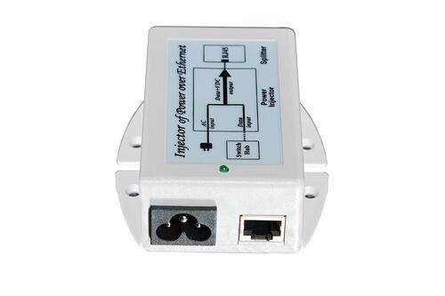 PoE Injector, Gigabit Ethernet, 802.3af, 48V, Surge Protected