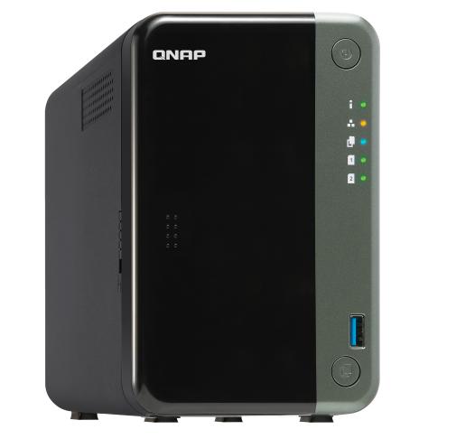 2-Bay NAS, Intel Quad-core 2.0 GHz CPU, 4GB RAM, 2.5GbE, PCI Expansion